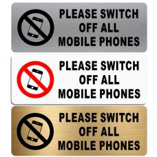 Please Switch Off All Mobile Phones-WITH IMAGE-Aluminium Metal Sign-Door,Notice,School,Office,Device